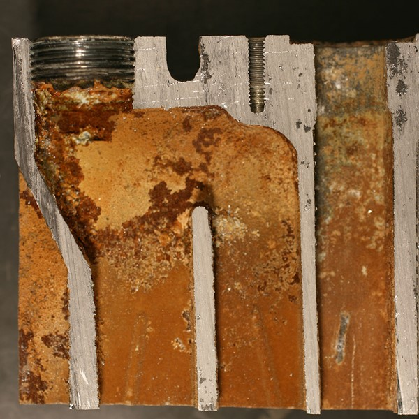 Debris on a heat exchanger